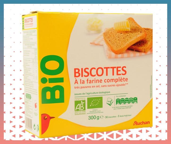 BISCOTTES COMPLÈTES BIO - BOÎTE 300g