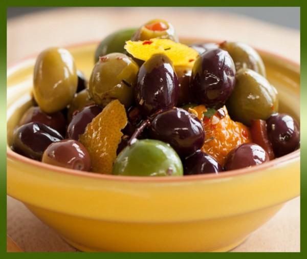 Commande en ligne mélange d'olives marinées livraison à domicile à nice