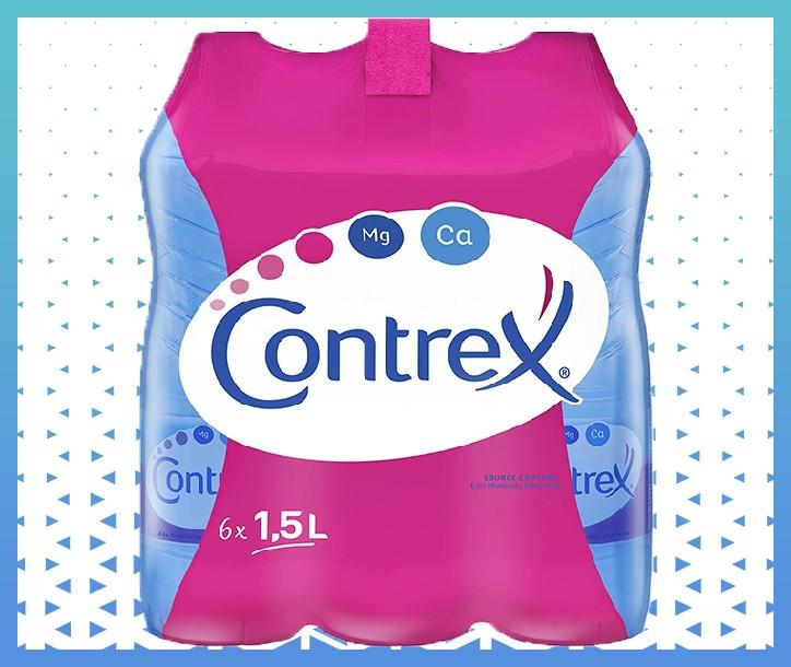 EAU MINÉRALE NATURELLE CONTREX - 6 X 1.5L