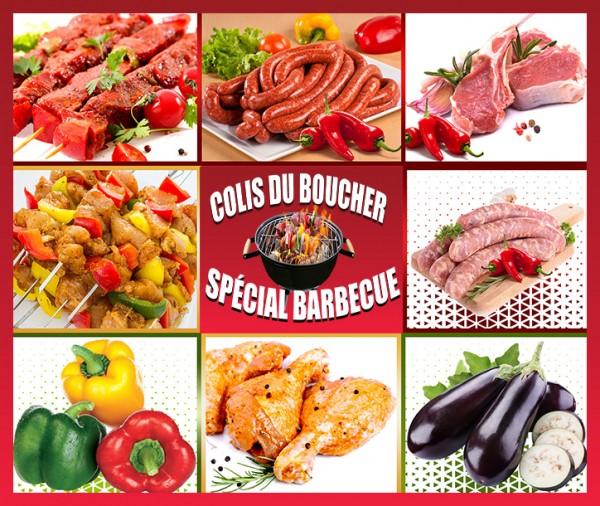colis grillade barbecue brochettes de boeuf mariné de poulet cotelette d'agneau merguez chipolatas livraison à domicile à Nice