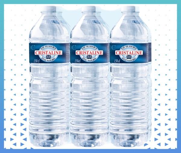 Pack d'eau de source naturelle cristaline livraison à domicile à nice