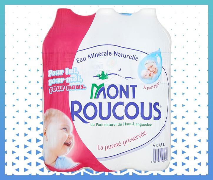 EAU MINÉRALE NATURELLE MONT ROUCOUS - 1L (PACK DE 6)