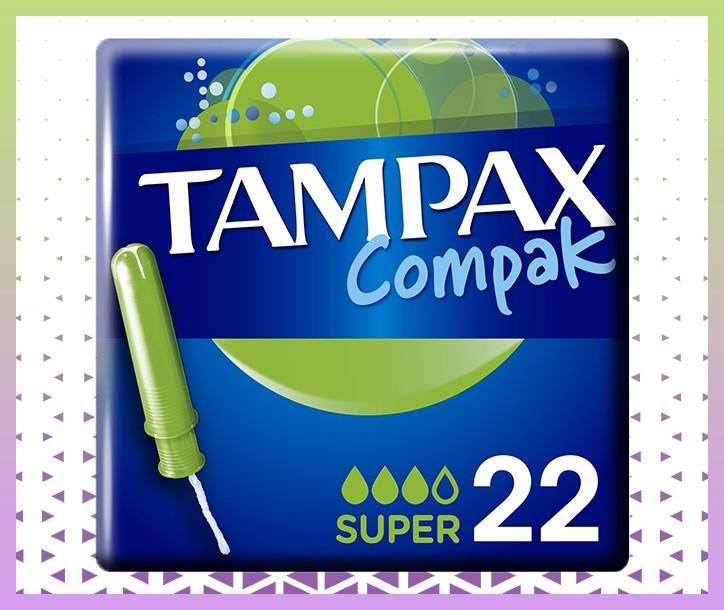 TAMPAX COMPAK SUPER TAMPON AVEC APPLICATEUR - PAQUET DE 22
