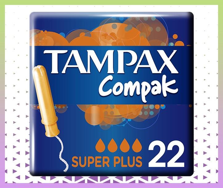 TAMPAX COMPAK SUPER PLUS TAMPON AVEC APPLICATEUR - PAQUET DE 22