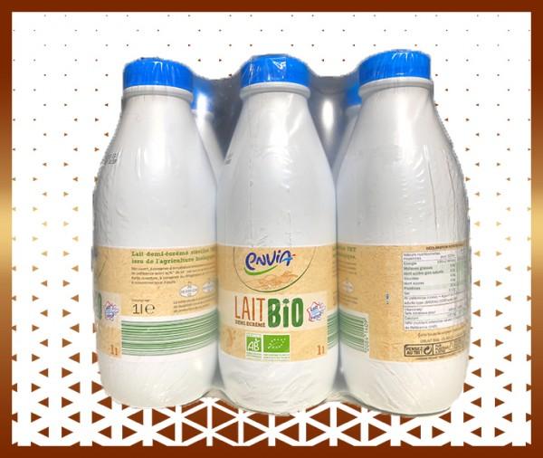 Commande en ligne Pack de lait demi-écrémé bio livraison à domicile nice